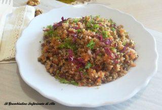 Quinoa al ragù di zucca e radicchio