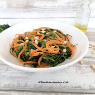 Agretti con carote e pinoli