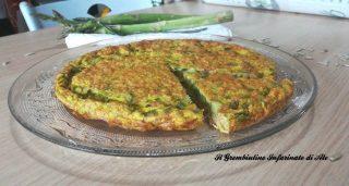 Frittata di asparagi e semi di girasole