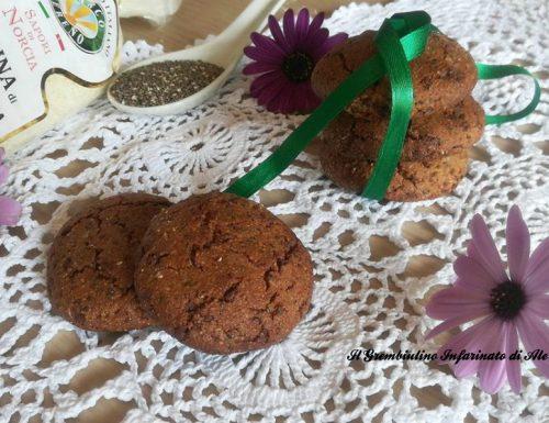 Biscotti con farina di lenticchie e semi di chia