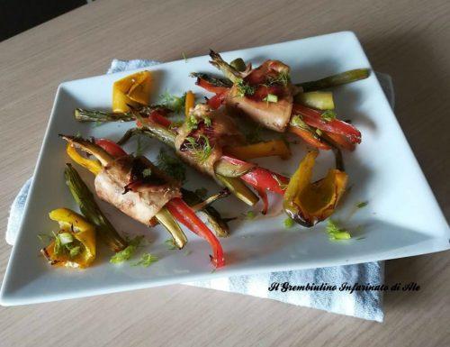 Fascetti di pollo alle verdure