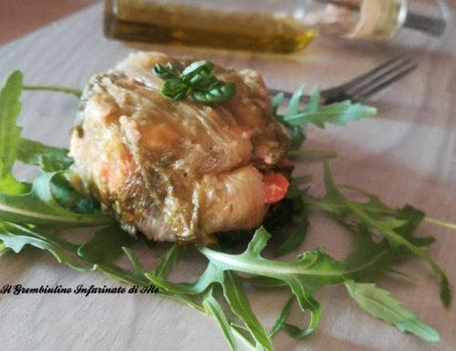 Scrigni vegetariani di lattuga