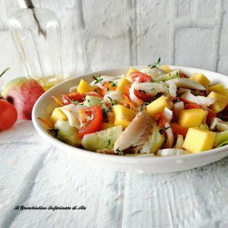 Insalata di merluzzo al mango e pomodorini