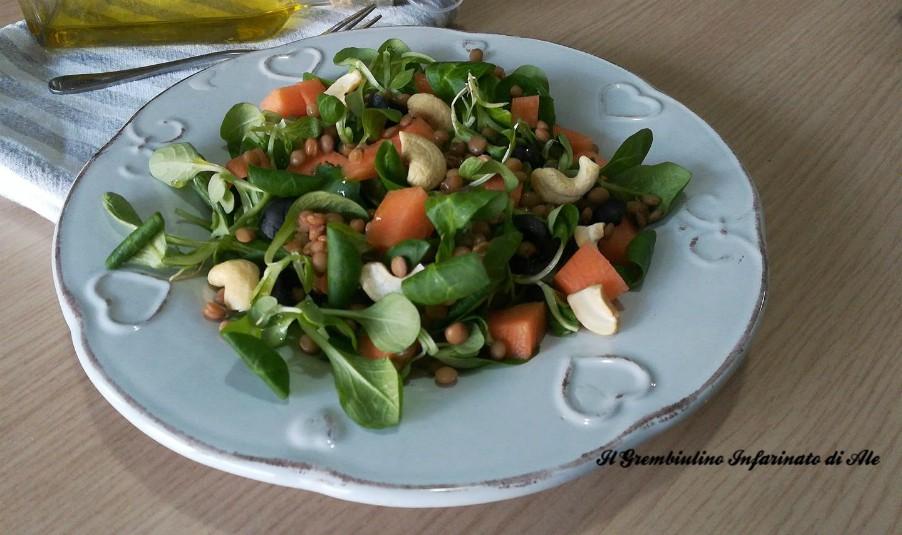 Songino con melone lenticchie e anacardi il grembiulino for Songino valeriana
