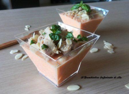 Mousse di carote con tonno e mandorle