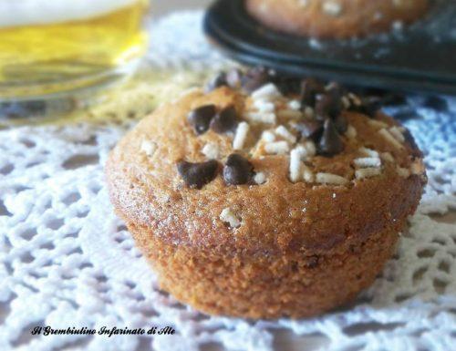 Muffins alla birra e gocce di cioccolato