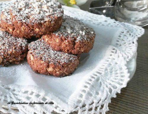 Biscotti con farina teff e avena senza lievito