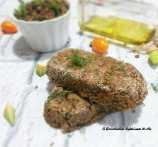 Mini polpettoni di lenticchie e avocado