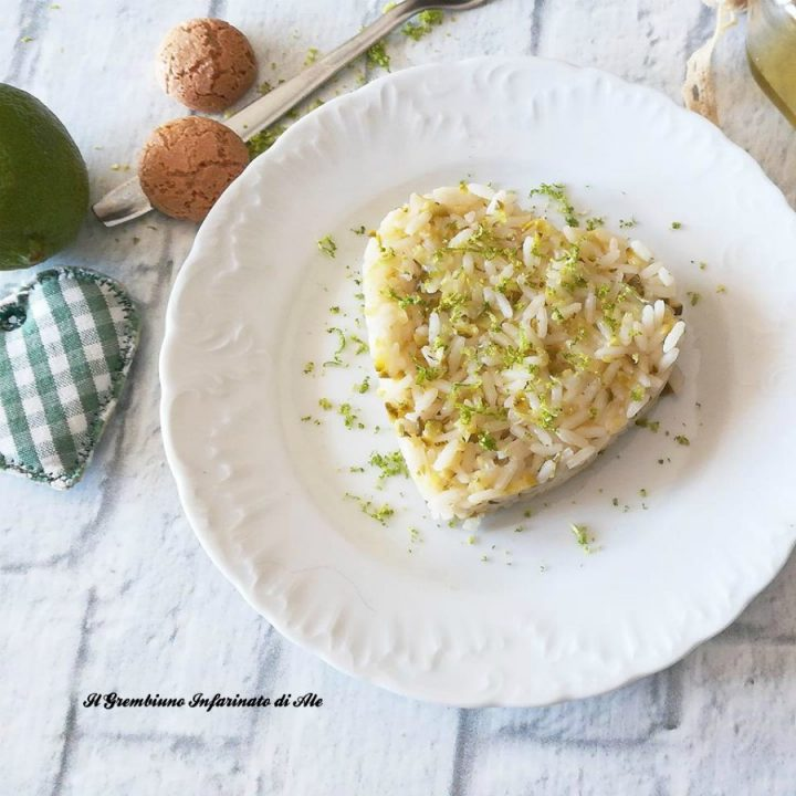Risotto all'amaretto e lime