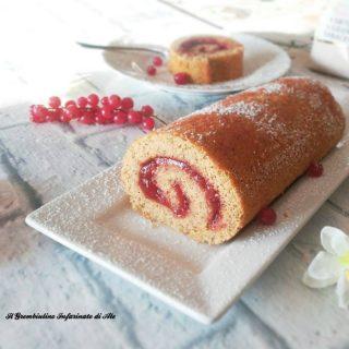 Rotolo al grano saraceno e marmellata di mirtilli rossi