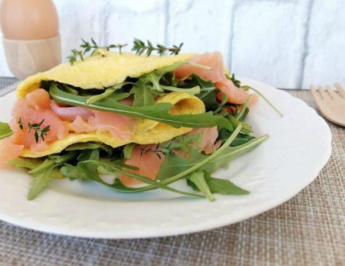 Omelette rucola e salmone