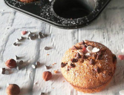 Muffin con farina di quinoa e nocciole