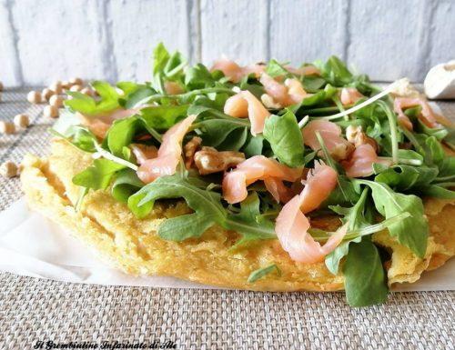 Pizza Socca Rucola e Salmone