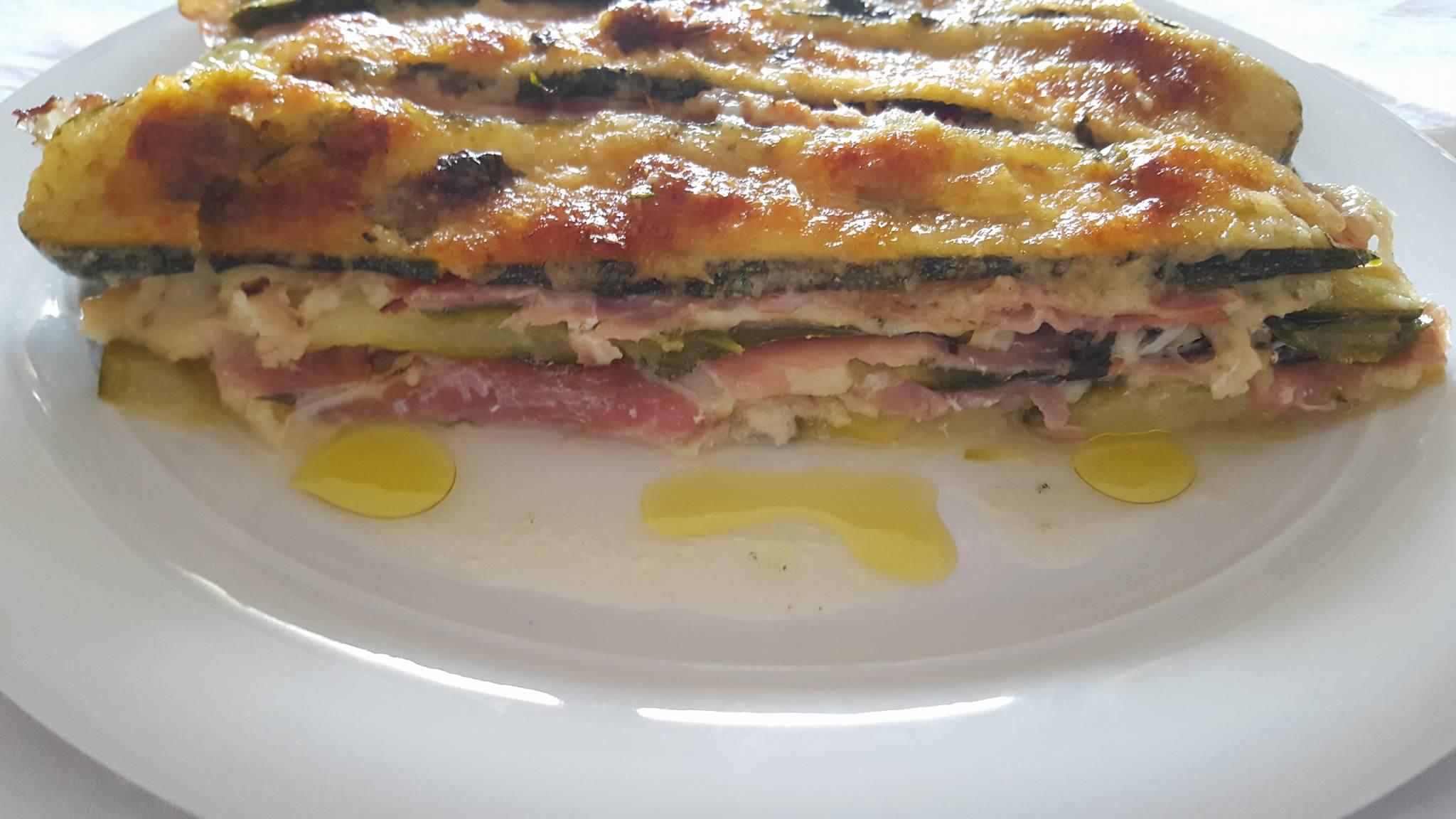 Lasagna di Zucchine con Speck e Scamorza