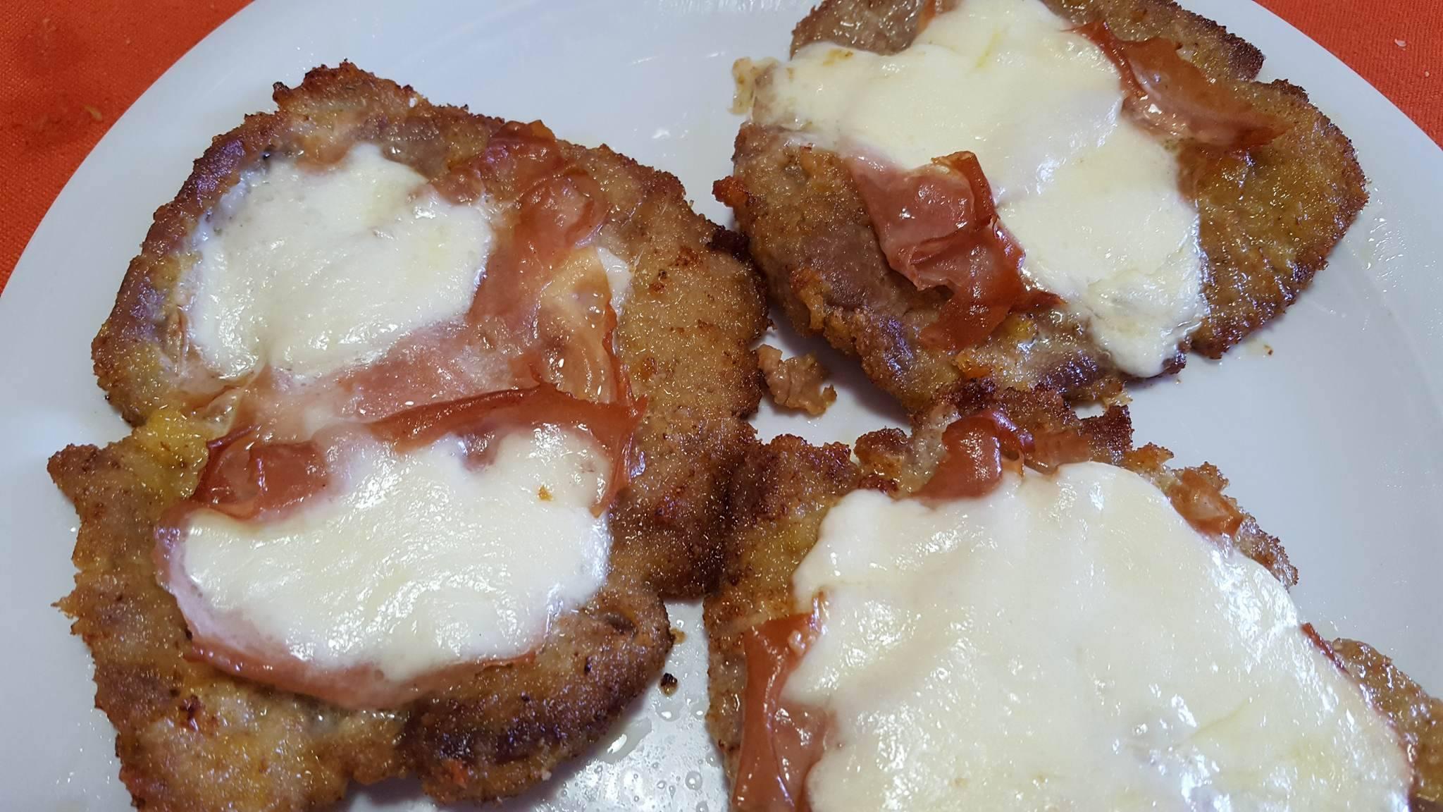 Scaloppine al forno con Mortadella e Mozzarella