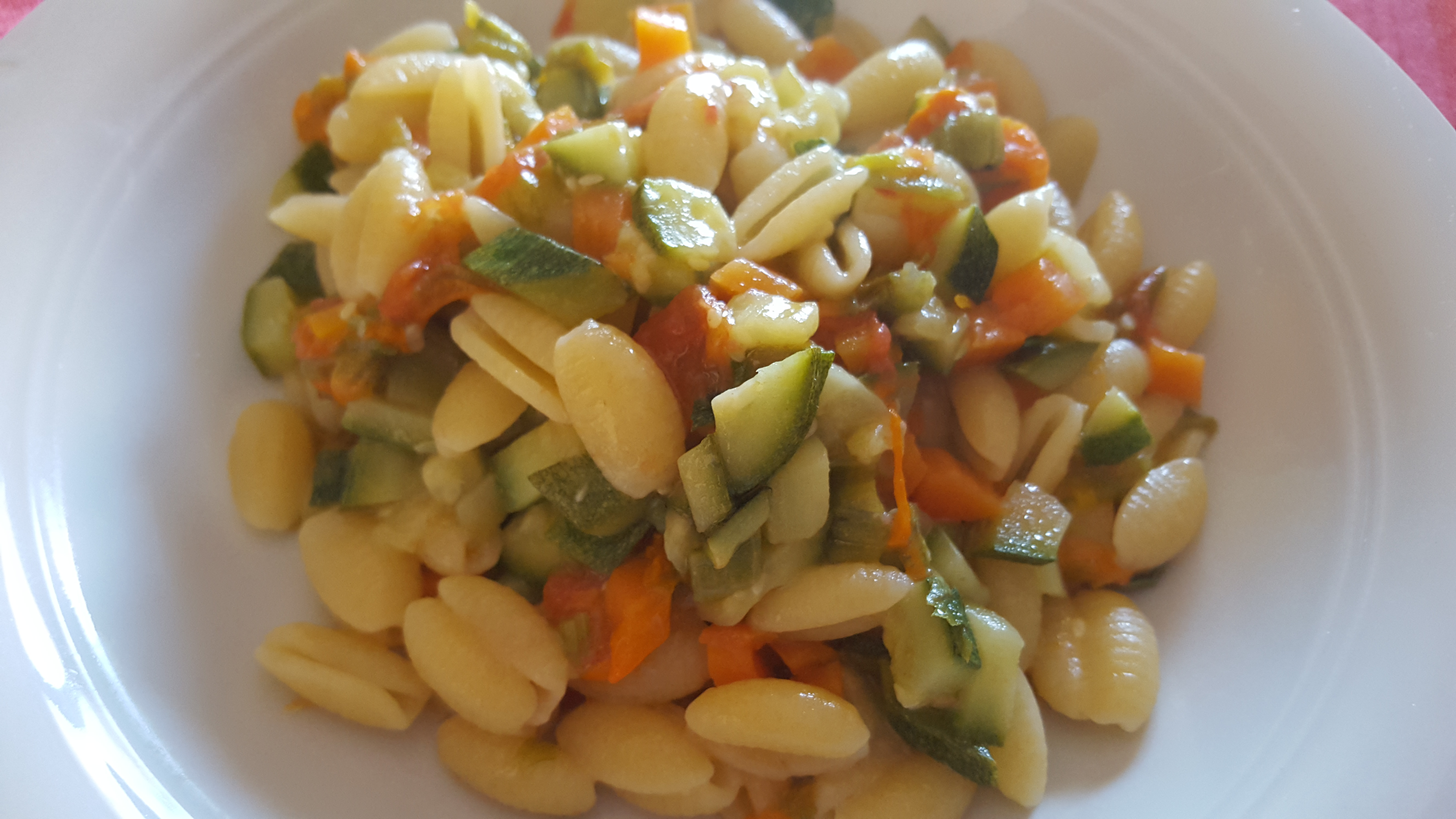Gnocchetti con Zucchine e Fiori di Zucca
