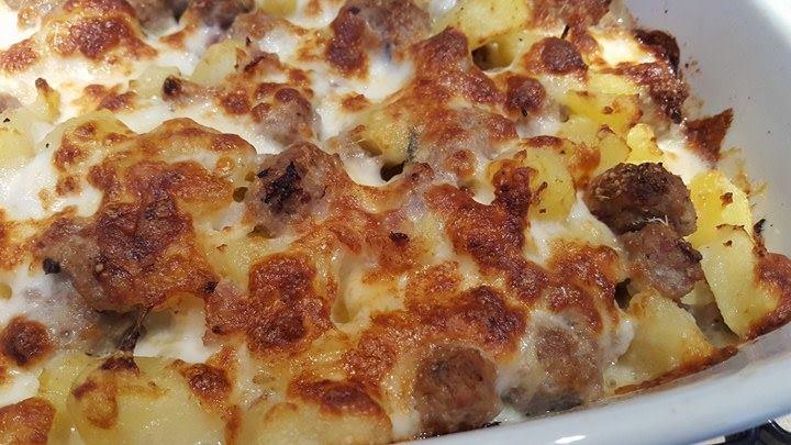 Sformato di Patate e Salsiccia SENZA LATTOSIO e SENZA UOVA