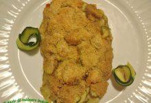Trota salmonata in crosta di zucchine