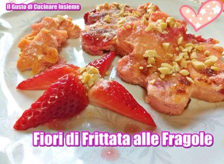 Fiori di frittata alle fragole