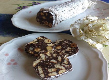 Salame al cioccolato fondente-Senza uova