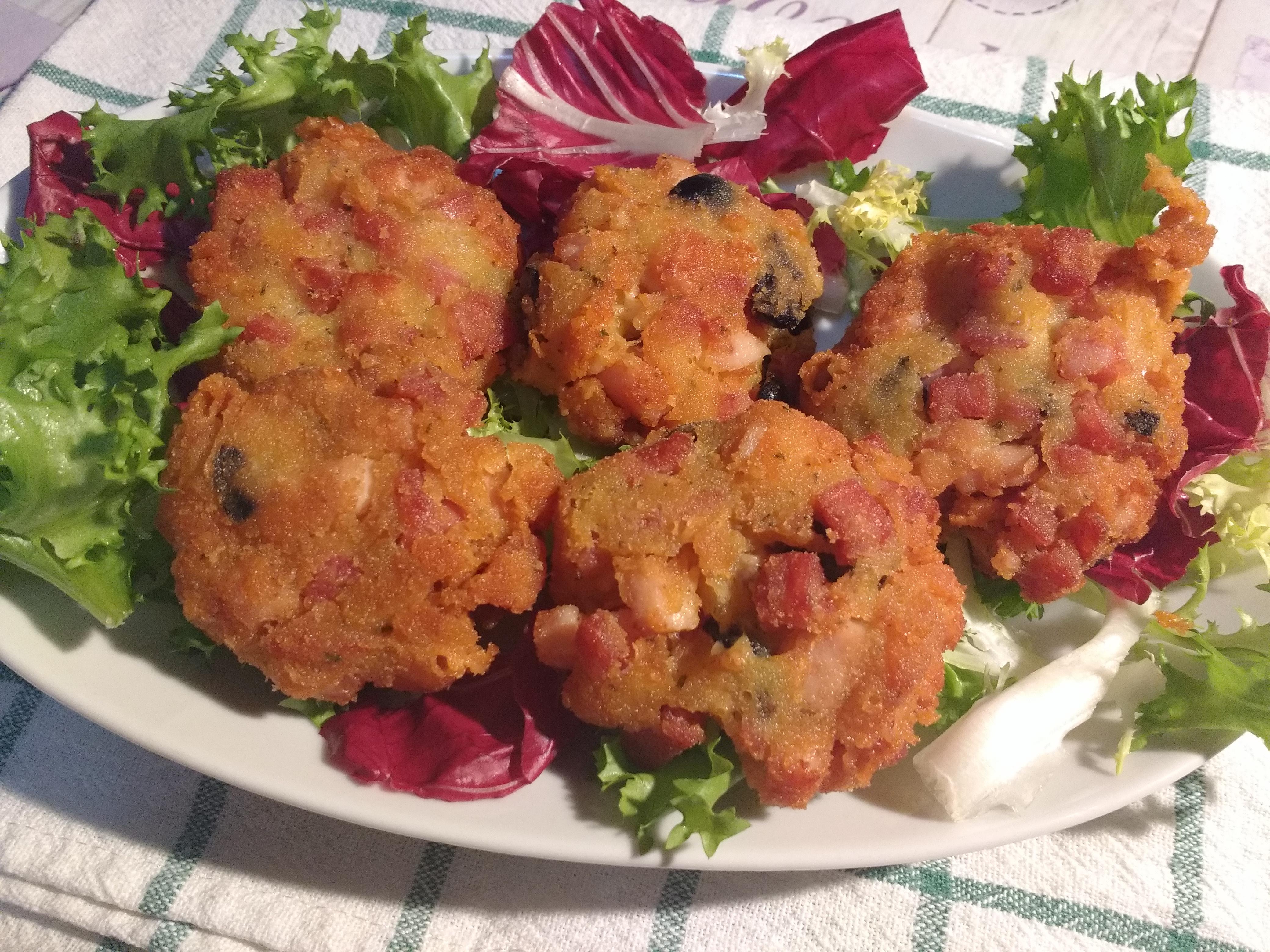 Polpette di patate e salumi