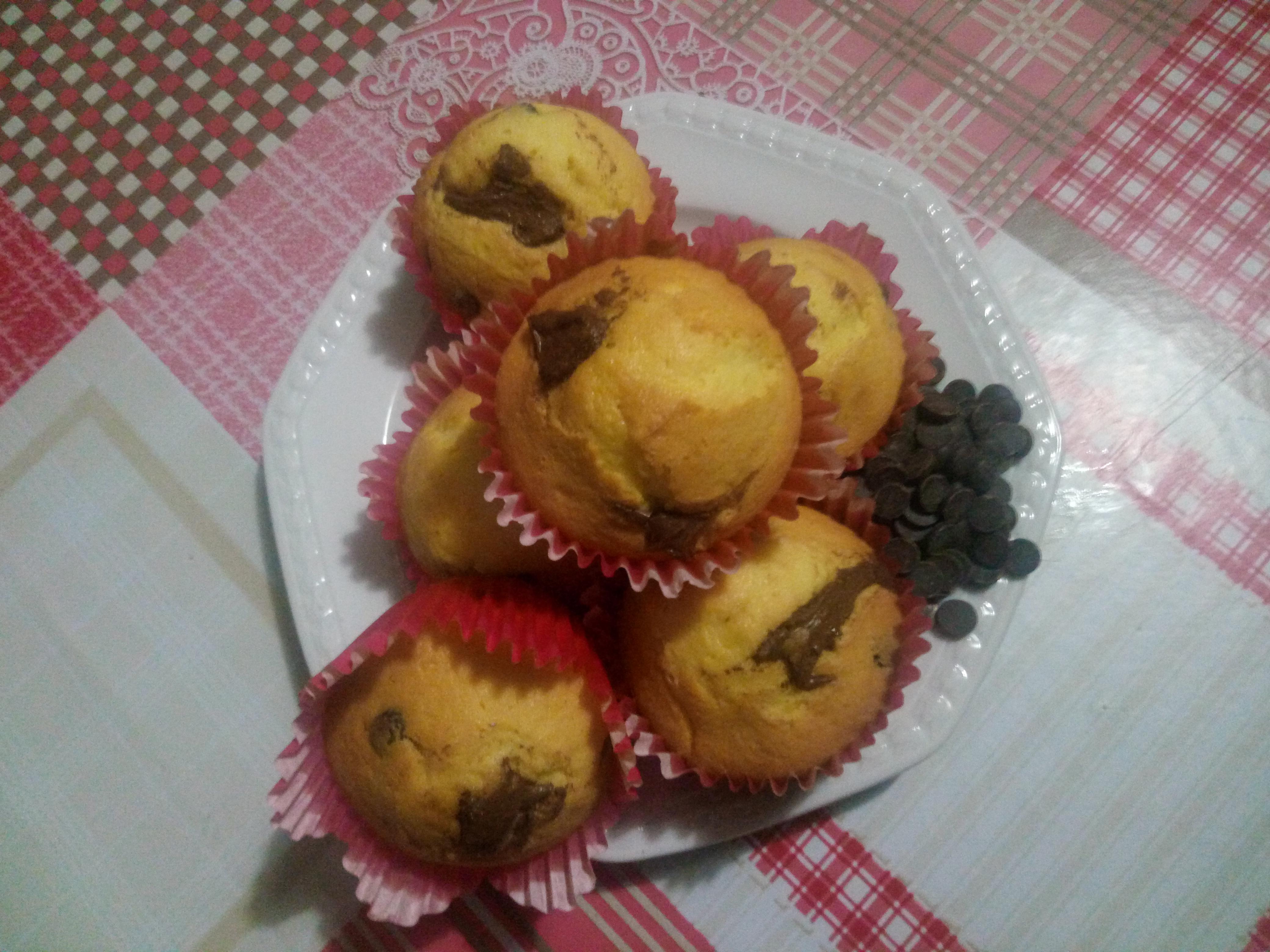 Muffin con mascarpone e Nutella (senza burro nè olio)