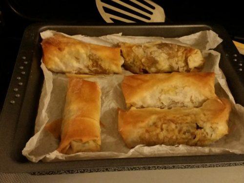 Involtini primavera in forno – Spring rolls