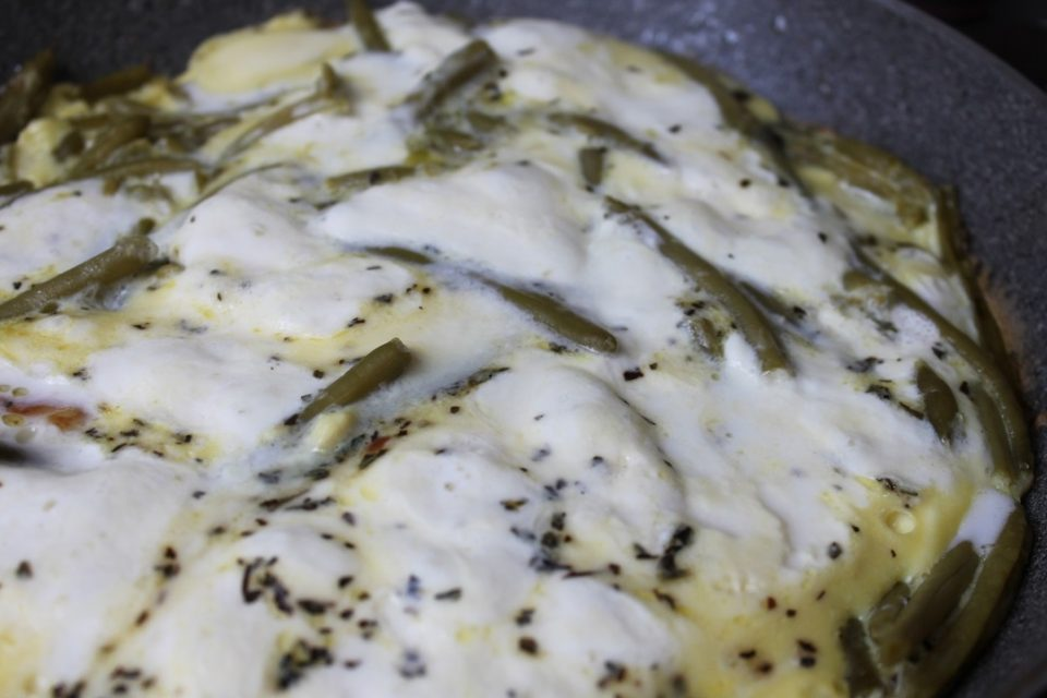 frittata-fagiolini-mozzarella