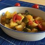 Patate e zucchine in umido