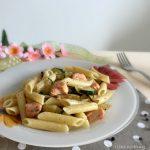 Penne zucchine e salmone