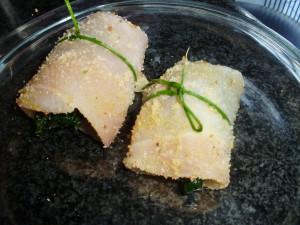 Pollo con spinaci e fontina