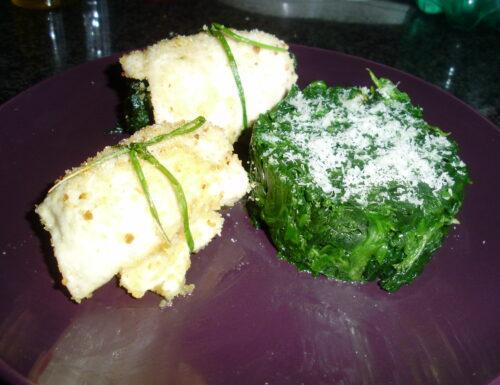 Involtini di pollo con spinaci e fontina