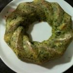 Ciambella agli spinaci con prosciutto e mozzarella