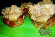 Cup Cake di frittata al forno con speck e noci
