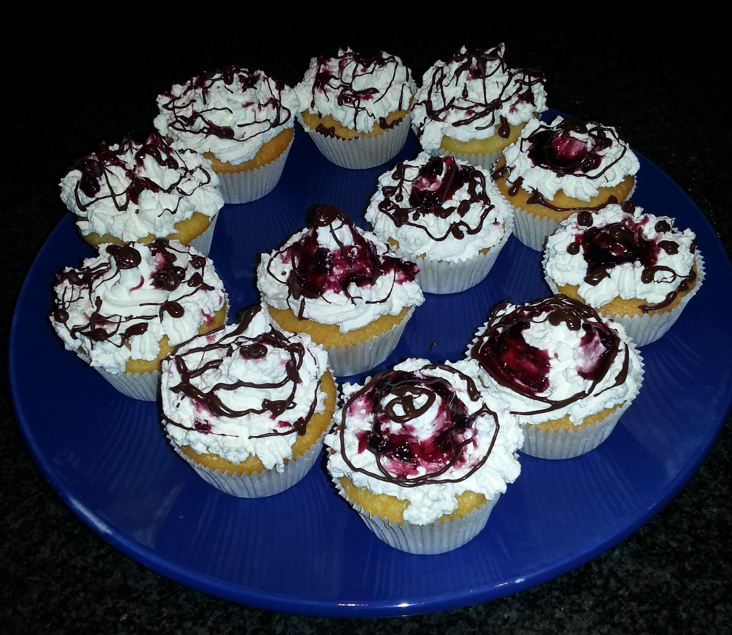 cup cake ai Frutti di bosco