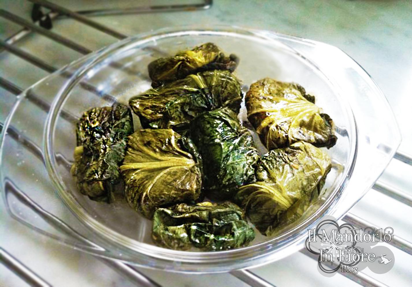 Involtini di foglie di radicchio