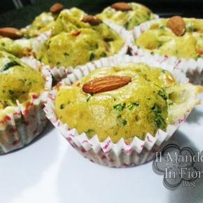 muffin mandorle peperoni e spinaci