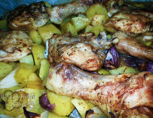 Pollo al forno con patate e cannella