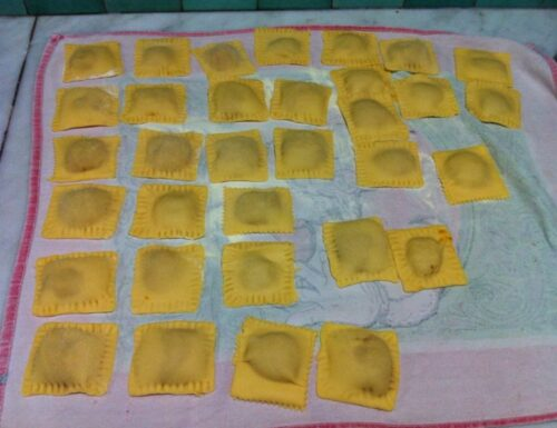 Ravioli amaretti e zucca