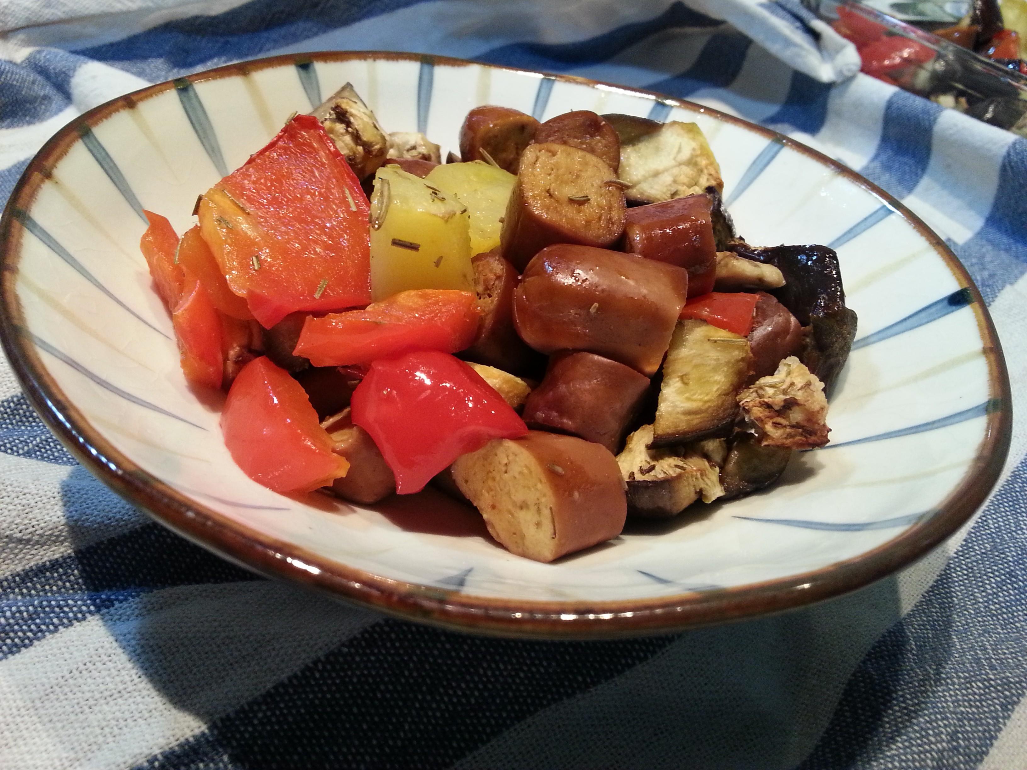 Wrustel di seitan e verdure