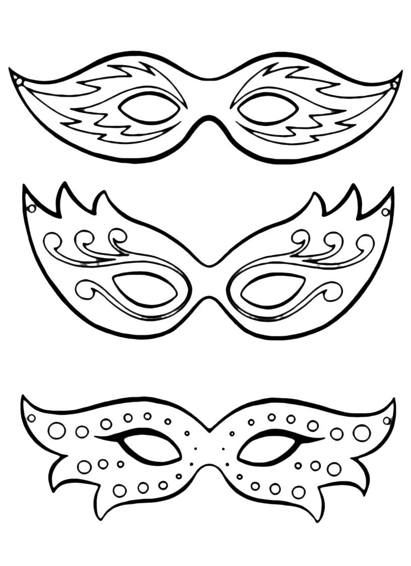 Maschere di carnevale for Disegni da colorare dei pagliacci
