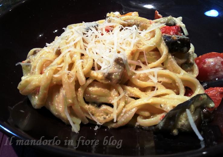 spaghetti cremosi alle verdure