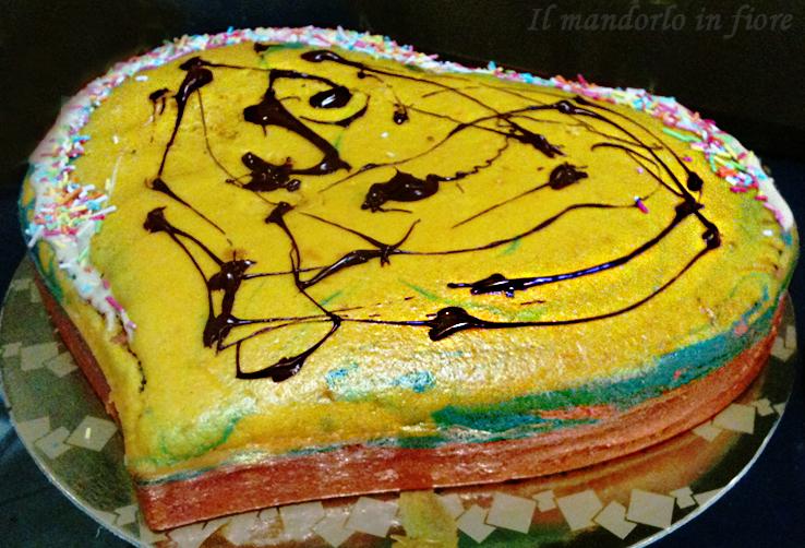 torta arlecchino con cioccolato bianco e nero
