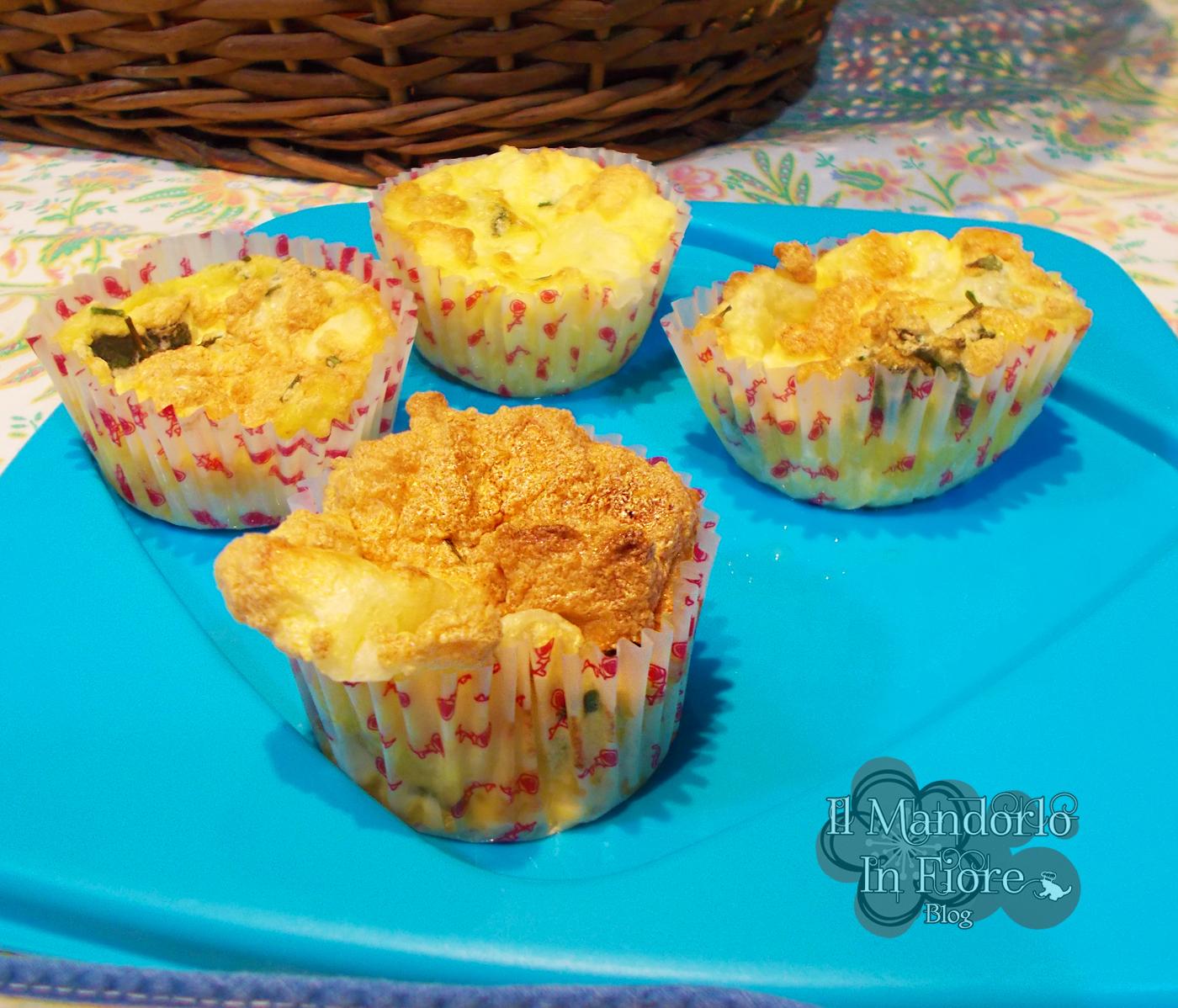 Cupcake di frittata al forno con erbette aromatiche