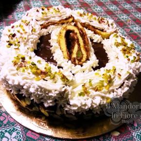 torta di bisquit alla crema di cioccolato