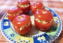 Pomodori ripieni di insalata di riso