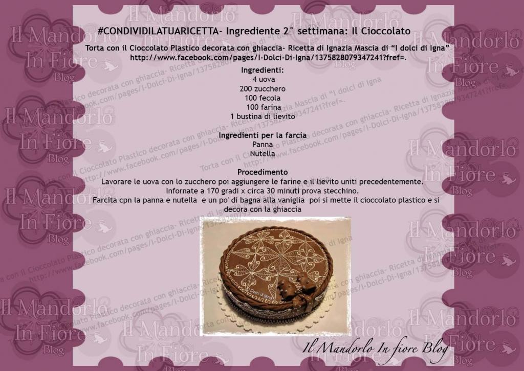 Torta con il Cioccolato Plastico Decorata con ghiaccia
