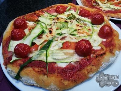 Pizza con lievito madre e grano etrusco