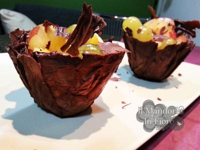 cestini di cioccolata per macedonia