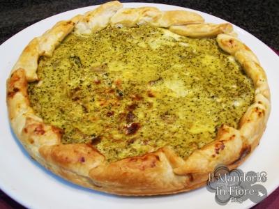 torta salata con broccolo romanesco